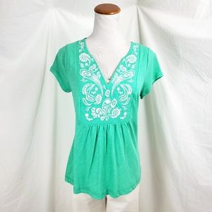 Boden Womens Size 6 Top Blouse Shirt Embroidered